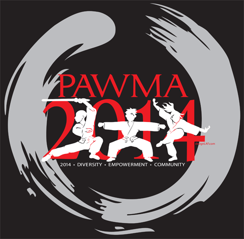 PAWMA Camp 2014 logo by Lori Fischer