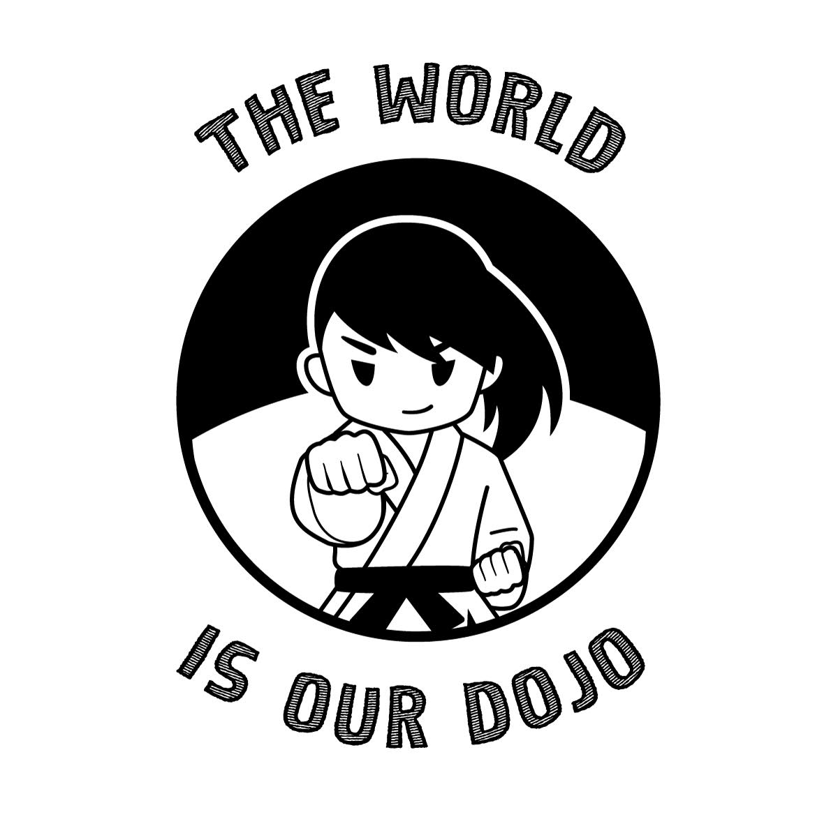 PAWMA Camp 2017 logo - The World is Our Dojo